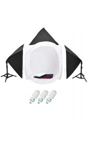Photography Kit - 80x80cms Soft Box Tent 60x60cms Soft Lights (150W)