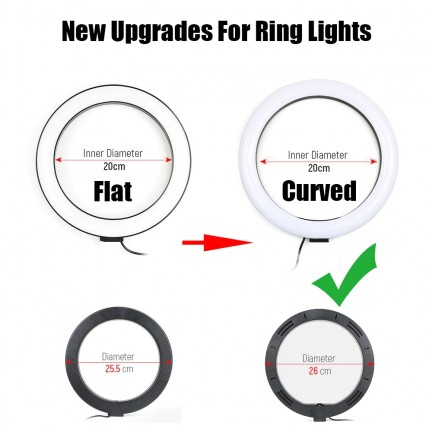 LED Ring Light Annular Lamp Studio Photography with Phone Stand Tripod