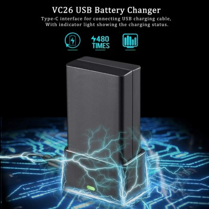 Godox VC26 USB Charger for V1 Battery