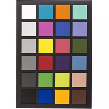 Aurora 24 Color Checker White Balance Card