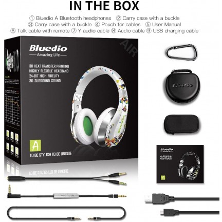 Bluedio A (Air) Stylish Wireless Bluetooth Headphones with Mic