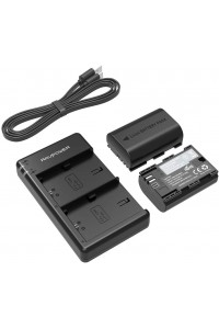 RAVPower LP-E6 LP-E6N 2-Pack Camera Batteries Charger Set