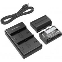 RAVPower LP-E6 LP-E6N 2-Pack Camera Batteries Charger Set