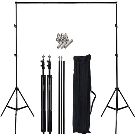 Portable Backdrop Stand Kit (2x2 meter)