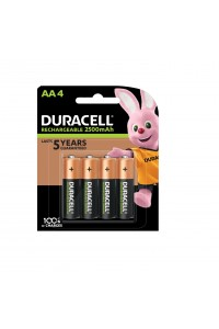 Duracell AA 2500mAh Recharge Ultra Rechargeable Batteries  4/Pack