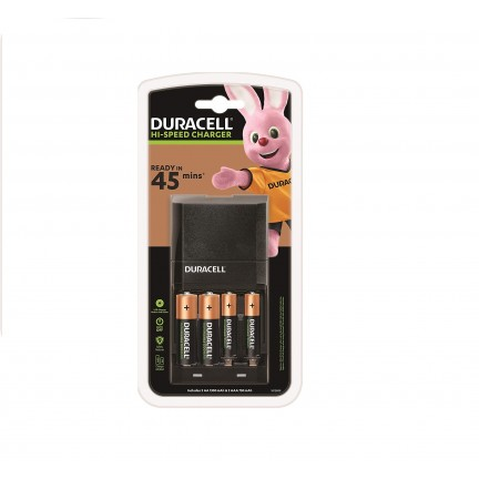 Duracell 45 Minutes Battery Charger with 2 AA and 2 AAA Batteries