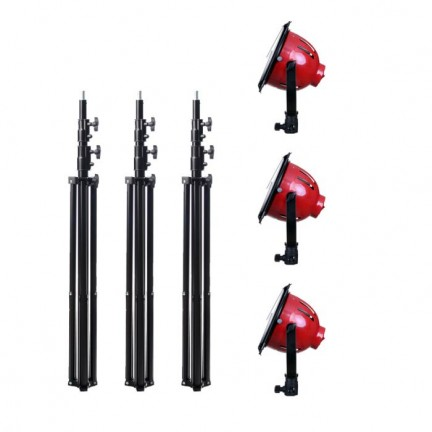 Red Head Studio Video Lighting kit with Stand (3KIT) LED