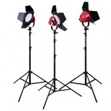 Red Head Studio Video Lighting kit with Stand (3KIT) White LED Light