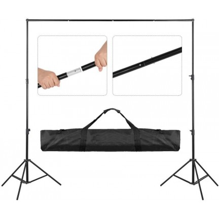Backdrop Background Stand Set Photography Studio Photo 2x3m