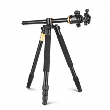 QZSD Q999H Aluminum Alloy Tripod Monopod with Horizontal Column 360 Degree Damping Ball Head