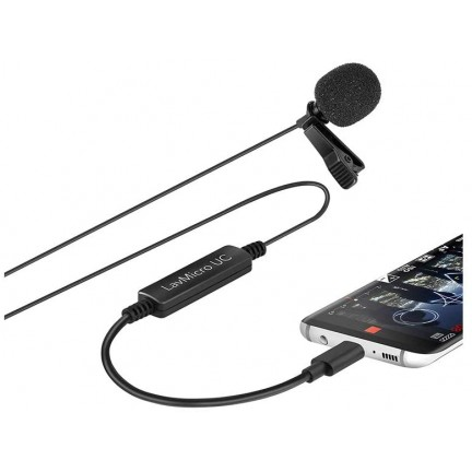 Saramonic LavMicro-UC Lavalier mic for USB Type-C Devices with Signal Converter