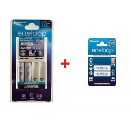Panasonic Eneloop Charger with 4 AA  Batteries