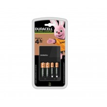 Duracell 4 Hours Battery Charger with 2 AA and 2 AAA, Batteries