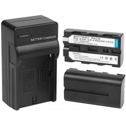 Yongnuo YN 216 LED Video Light NP-F550 Battery NP-F970 Charger