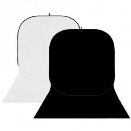 StudioKing Background Board 150x400cm,White/Black
