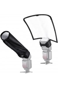 Foldable Flash Snoot Speedlite Softbox Diffuser Speedlight Reflector Universal