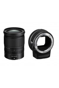Nikon NIKKOR Z 24-70mm f/4 S Lens And Nikon FTZ Mount Adapter