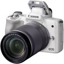 Canon EOS M50 White and EF-M 18-150mm IS STM