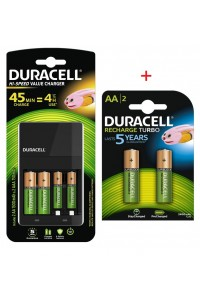 Duracell High Speed with 4 AA and 2 AAA Rechargeable Batteries