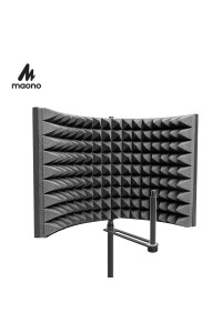 MAONO Studio Microphone Isolation Shield Foldable High Density
