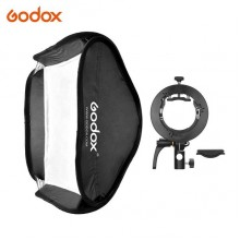 Godox S2 Bowens Mount Bracket with Softbox & Carrying Bag Kit (60x60cm)
