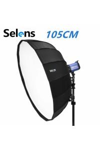 Selens 105cm Parabolic Umbrella Beauty Dish Softbox for Studio Flash Light