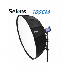 Selens 105cm Parabolic Umbrella Beauty Dish Softbox for Studio Flash Light