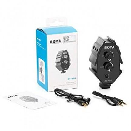 Boya MP4 Audio Adaptor for Smartphones,DSLR Camera,Camcorder