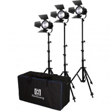 Nanguang CN-30F 3-Light Daylight LED Fresnel 3Kit