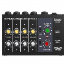8 Channels Metal Mono Stereo Audio Sound Mixer