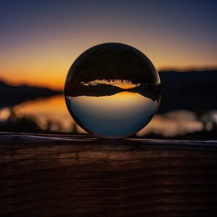 Crystal Clear Lens Ball