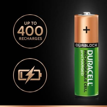 Duracell High Speed 5000547 Value Charger with 4 AA and 2 AAA Rechargeable Batteries
