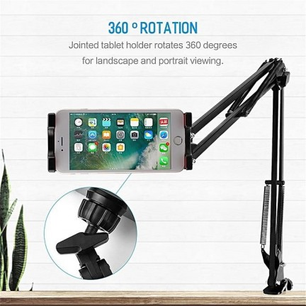 Tablet Pad Phone Holder Stand Universal 360 Rotating Flexible Long Arm lazy Phone Holder