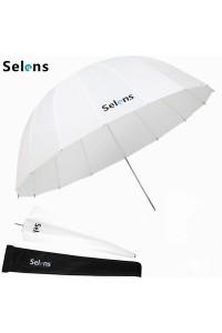 Selens 165cm White Parabolic Umbrella