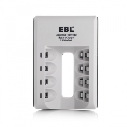 EBL Charger with 4 AA rechargeable 2800mAh batteries