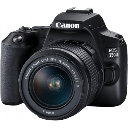 CANON EOS 250D DSLR Camera with EF-S 18-55 mm f/3.5-5.6 III Lens