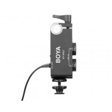 BOYA by-MA2 Dual-Channel XLR Audio Mixer with 6.35mm Input 3.5mm Jack