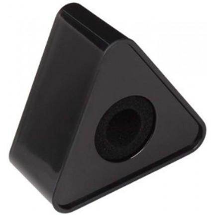 Plastic Microphone Interview Triangular Logo Flag Station Black