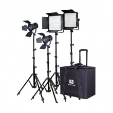 Nanguang CN-30F 4-Light Daylight LED Fresnel Kit