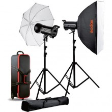 Godox QT-600II x2 Studio Flash Lighting Kit FT-16 Trigger