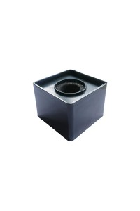Black ABS Mic Microphone Interview Square Logo Flag Station