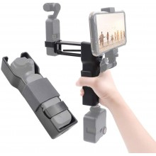 Foldable Z-Axis 4th Axis Stabilizer with Smartphone Holder Clip Handle Grip