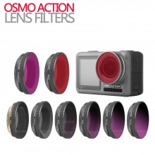 OSMO ACTION Accessories Camera Lens Adjustable/Diving Filter Sets UV CPL ND