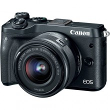 Canon EOS M6 Mirrorless Digital Camera with 15-45mm Lens