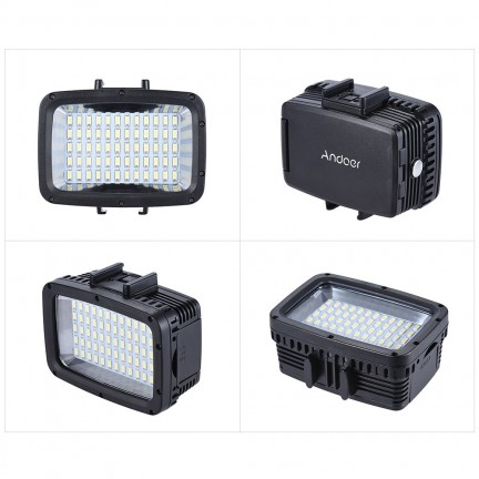 Andoer Ultra Bright 1800LM 3 Modes Waterproof Underwater 40m 5500K 60pcs LED