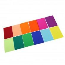 Transparent Color Gel Filter Lighting Film Sheet 12 Color