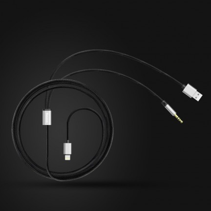 Baseus L34 apple to 3.5mm and USB charging Cable