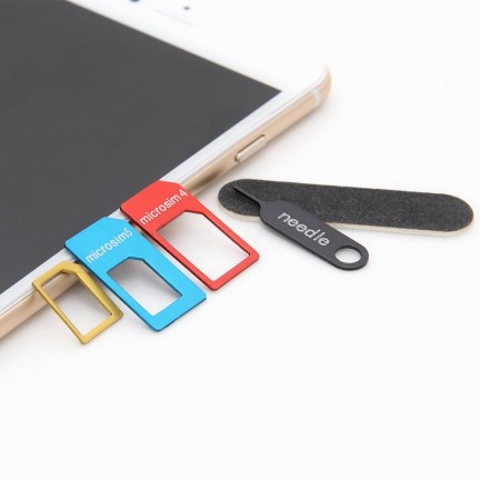 LENTION 5-in-1 Nano SIM Card to Micro/Standard SIM Card Adapter