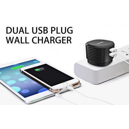 VINSIC 5V/3.4A Dual USB British Wall Charger Adapter