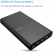 Vinsic 28000mAh Quick Charge Power bank Black